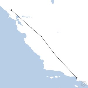 Map of flight plan from KLAX to KSTS