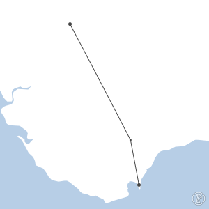 Map of flight plan from LXGB to LEZL