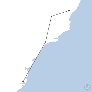 Map of flight plan from YSSY to YTRE