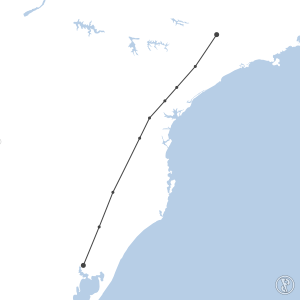 Map of flight plan from SBKP to SBPA