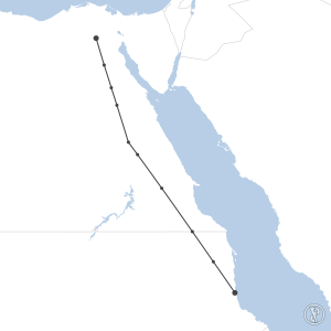Map of flight plan from HECA to HSPN