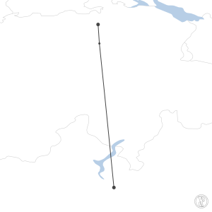 Map of flight plan from LIMC to LSZH