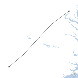 Map of flight plan from KCLT to KDCA