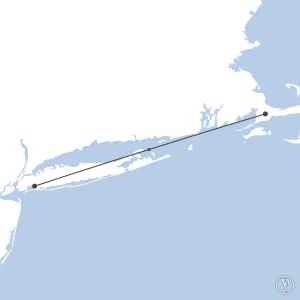 Map of flight plan from KJFK to KFMH