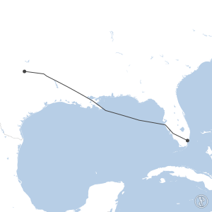 Map of flight plan from KDFW to KMIA