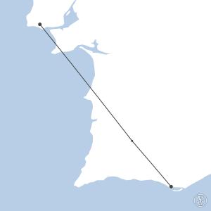 Map of flight plan from LPCS to LPFR