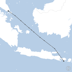 Map of flight plan from WSSS to WADD