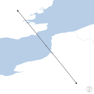 Map of flight plan from LFPG to EGSS
