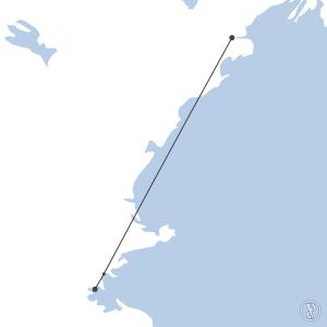 Map of flight plan from KPWM to KBOS