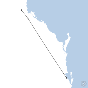 Map of flight plan from YBBN to YBRK