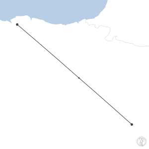 Map of flight plan from LEZG to LEBB