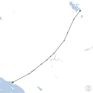 Map of flight plan from KSLC to KLAX