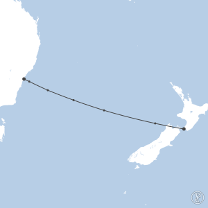 Map of flight plan from NZWN to YSSY